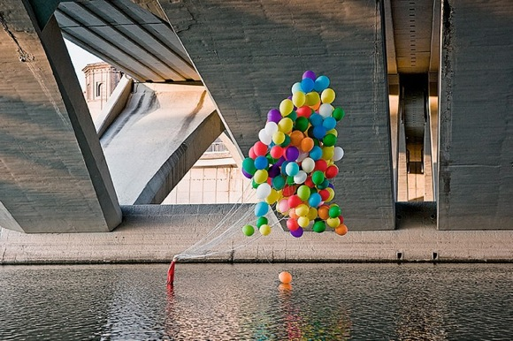 SpyBalloons Urban Street Art   Balloon Boy by Spy