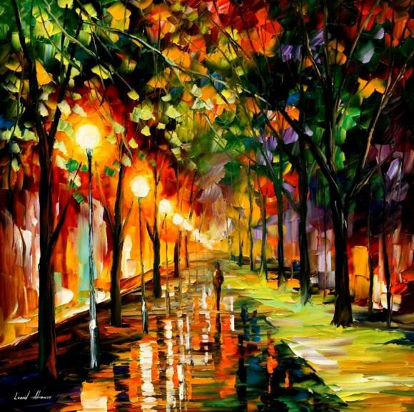 Green Dreams Paintings by Leonid Afremov