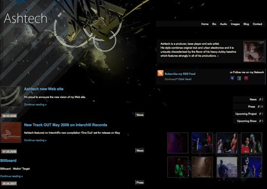 ash new site00 Ash tech. The new Web site