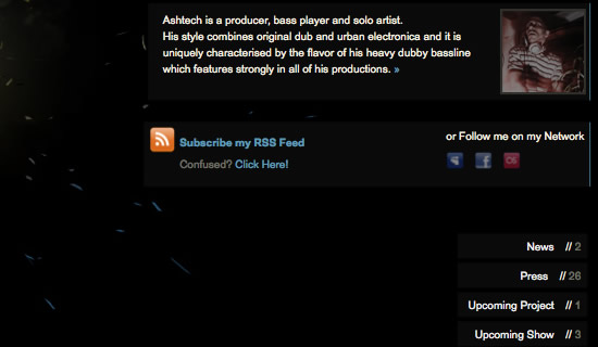 ash new site01 Ash tech. The new Web site