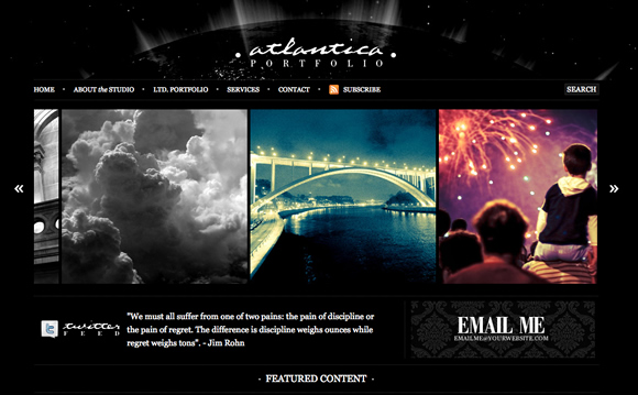 atlantica 9 Fresh Wordpress Themes With A Minimal & Sleek Design