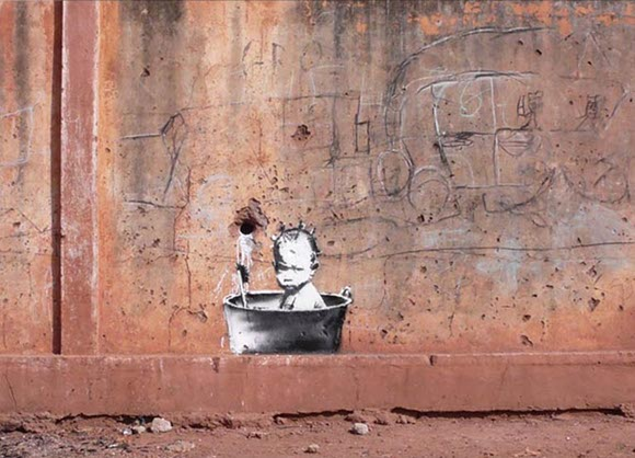 banksy1 Banksy spotted in Africa