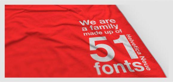 bg3small Helvetica T shirt