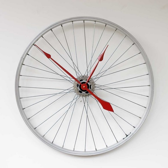 bikewhellclock Bike Wheel Clock