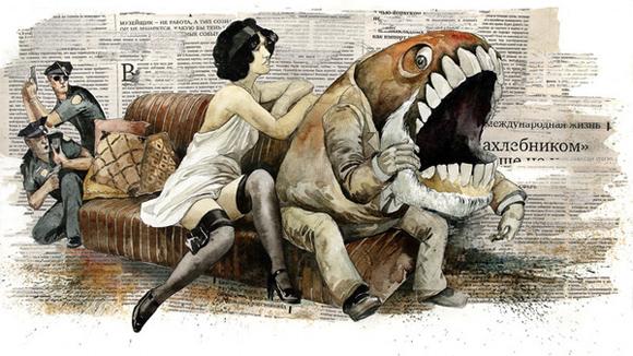 dmitry01 Traditionnal illustration by Dmitry Ligay