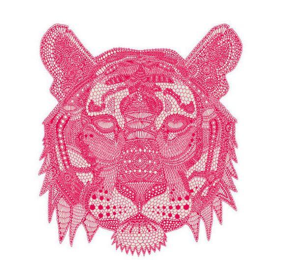 draw tigerlayout Intricate Art