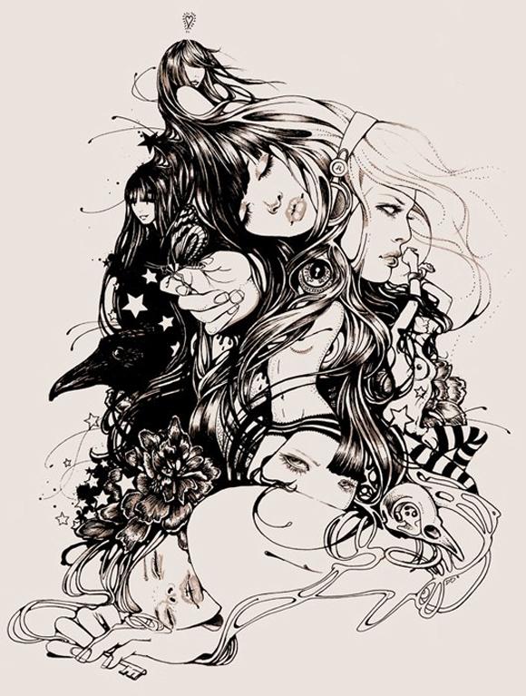 dytMartineJohanna Beautiful Illustrations by Martine Johanna