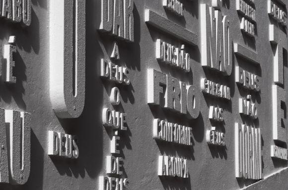 er293 Vai com Deus Typographic intervention