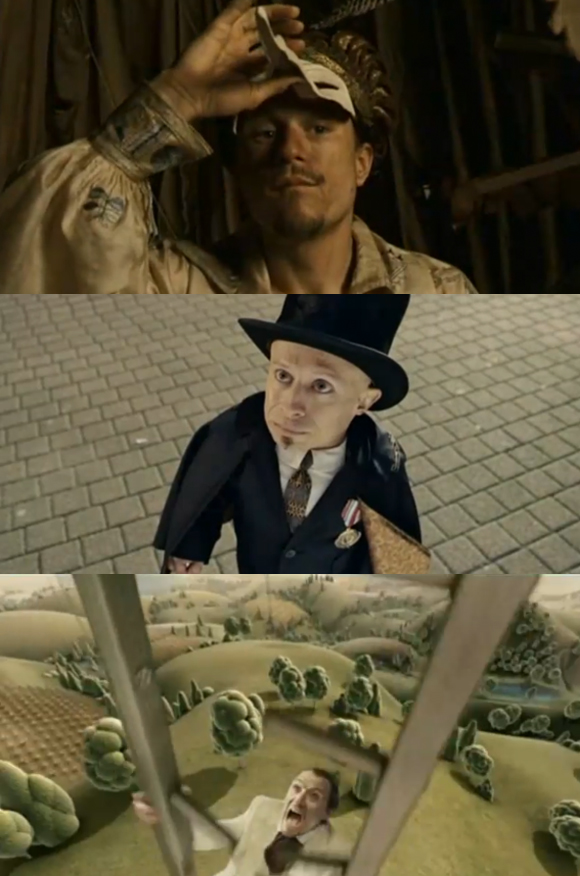 fdoogggdgscopy THE IMAGINARIUM OF DOCTOR PARNASSUS TRAILER Starring Heath Ledger and Featuriung Johnny Depp.