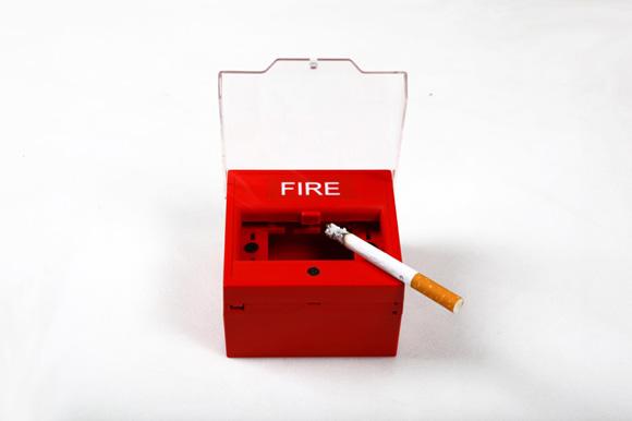 fire ashtray bk Fire Alarm//Ashtray
