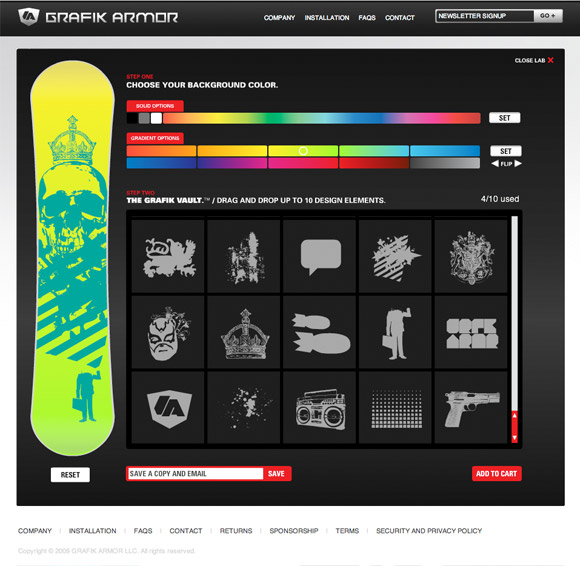 ga lab 02 Artist Series Snowboard Decals