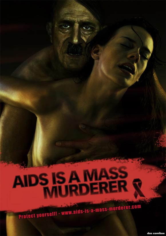 hitler dyt World Aids Day Advertising   Brilliant