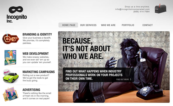 incognito 10 Studios That Find Clients Easier Because They Have Funny Websites