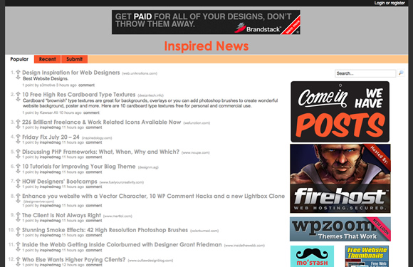 inspired 01 Inspired News: New Website For Design Nerds, Rockstar Developers & Freelance Superheroes