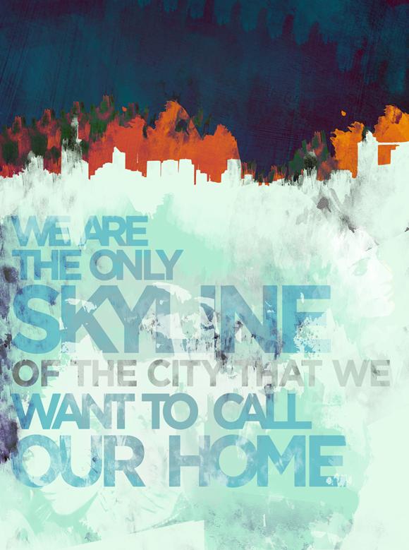 ipsfinal1s Typography Poster Design: IPS Skylines