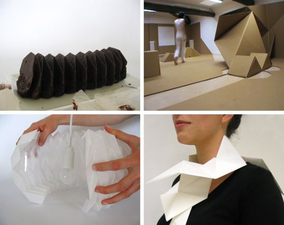 lepli Origami works by Charlène Fetiveau