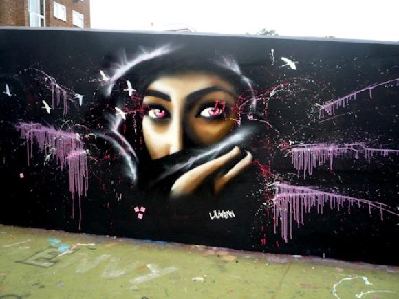 liliwenn1 Urban Street Art: Shes Got Killer Eyes   Liliwenn