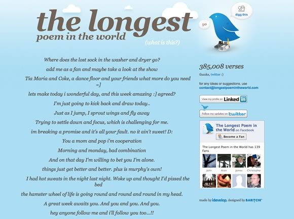 longestpoem The Most Creative 10 Twitter Mashups