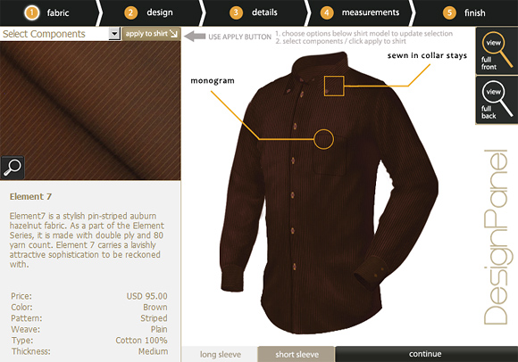 md 2 7 Trillion Mens Dress Shirts: Design Every Part of Your Shirt!