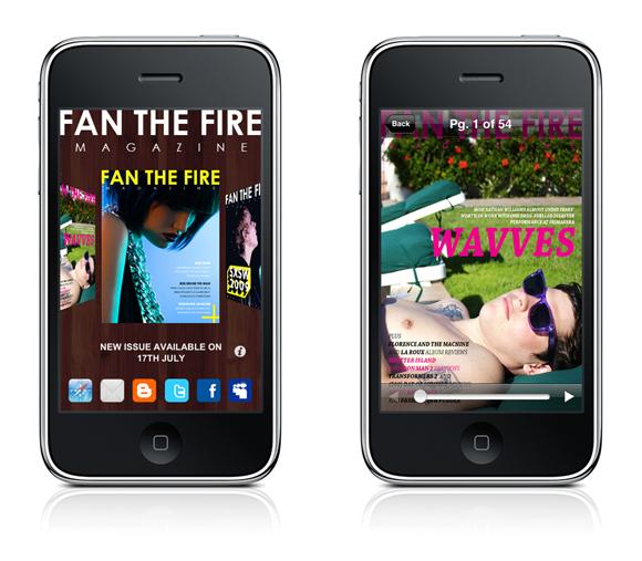 mix1 Fan The Fire Magazine iPhone app