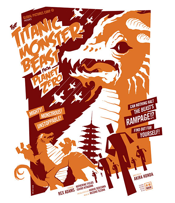 monsters Tom Whalens horror movie posters
