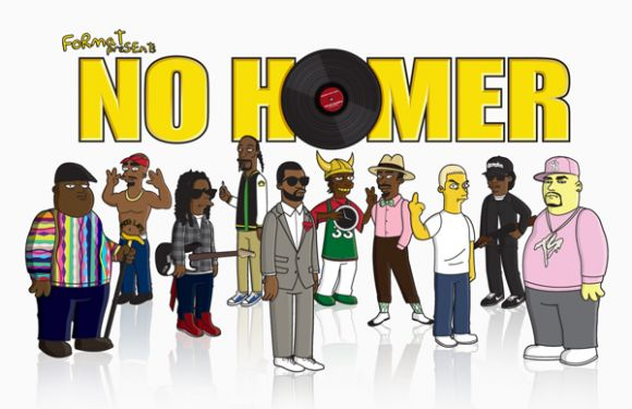 nohomerposse 10 Hip Hop Icons Simpsonized