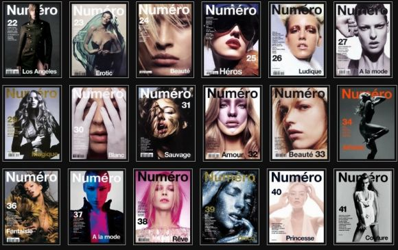 numeromagazinecoverfrompapermode Entire Collection of Numero Mag. Cover
