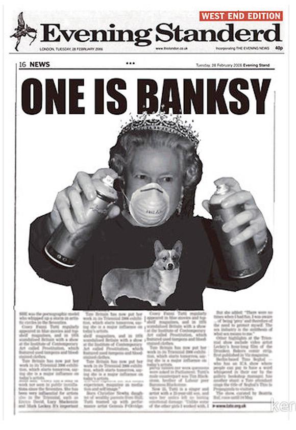 queen banksy Who is Banksy?