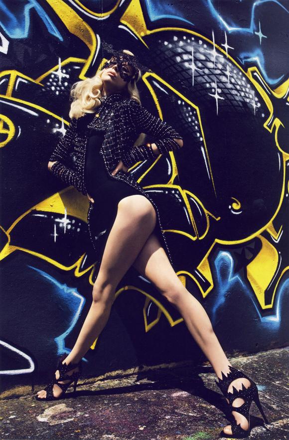 rarr2 Raquel Zimmermann by Mario Sorrenti + KAWS
