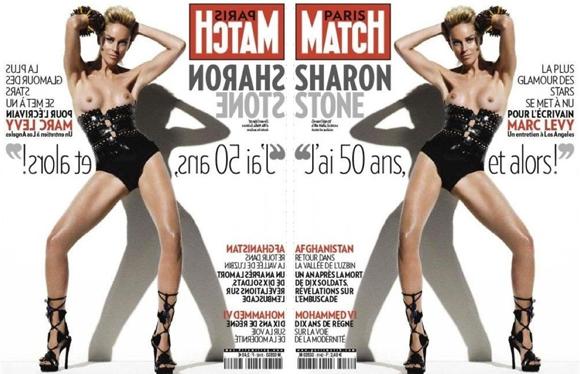 sharon Sharon Stone x Paris Match