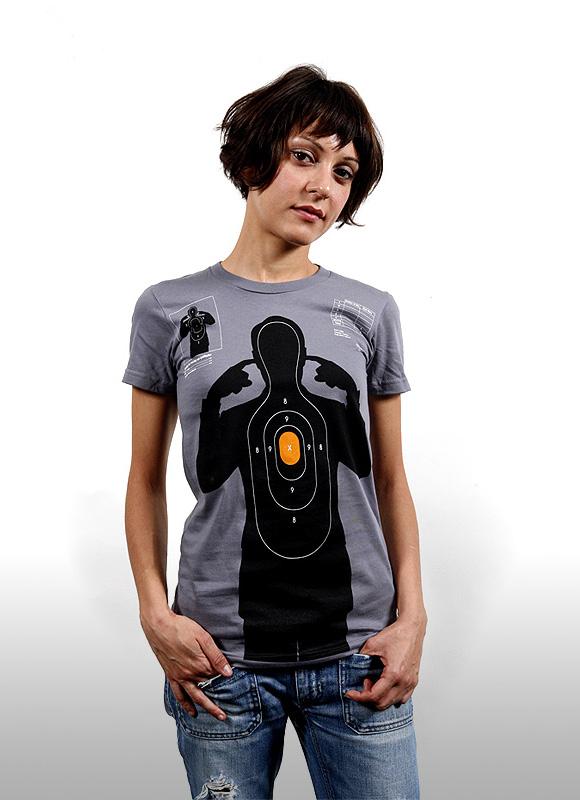 shooting target 01 Shooting Target   t shirt print by Supermandolini