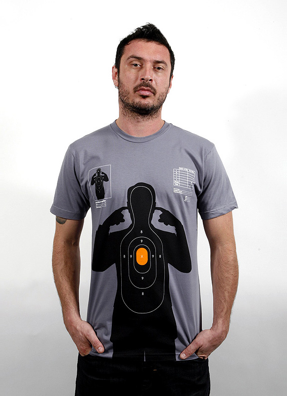 shooting target 02 Shooting Target   t shirt print by Supermandolini