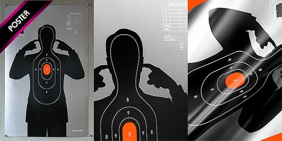 shooting target 03 Shooting Target   t shirt print by Supermandolini