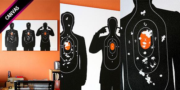 shooting target 04 Shooting Target   t shirt print by Supermandolini