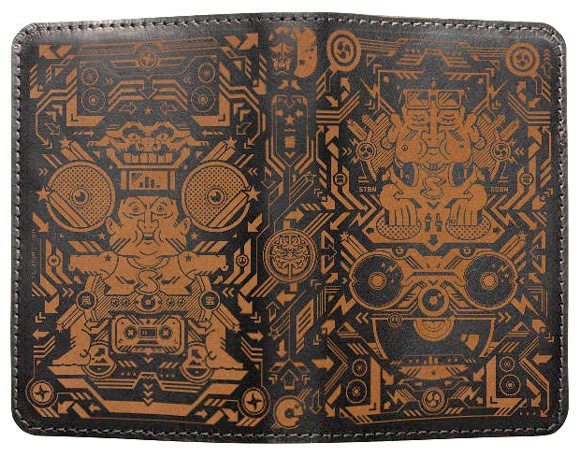 stubbornsideburn.com Black Moleskine engraved leather cover