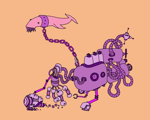 submarine Illustration by Dan Zvereff