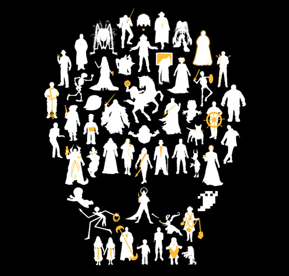 undead 51 Icons of The Undead Tshirt