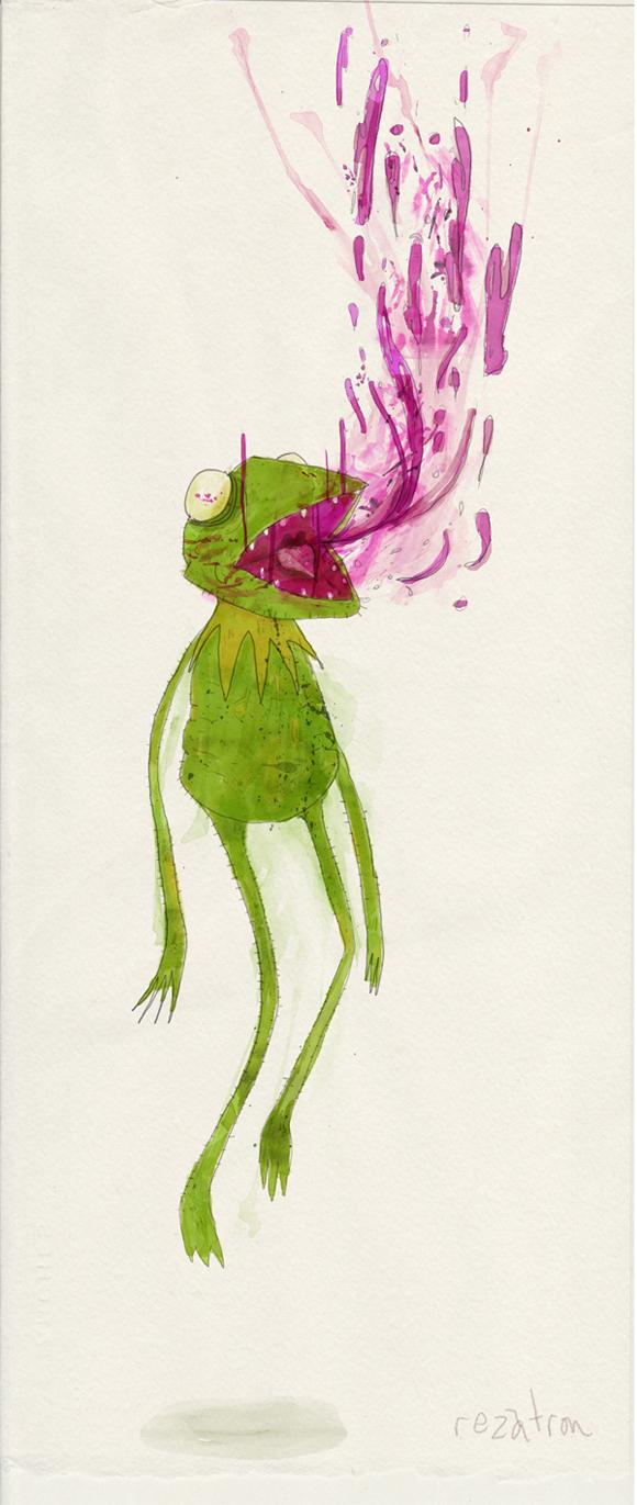 vomit Rezatron Zombie Illustrations
