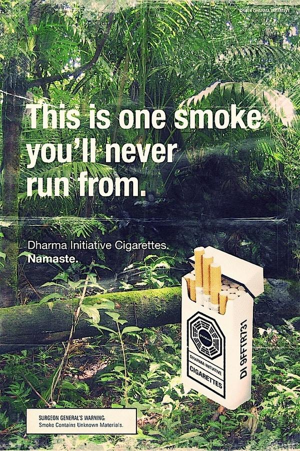 Cool Dharma cigarette ad
