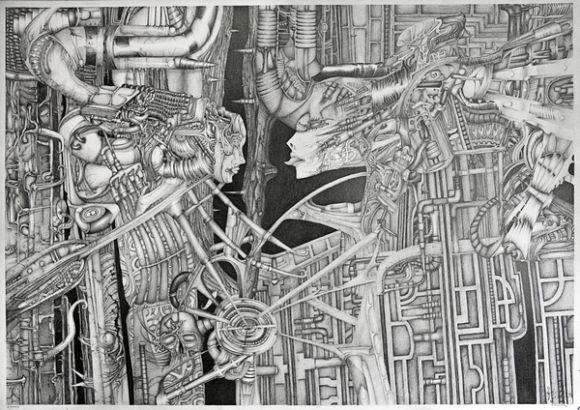 AxisCylinders1 DUT Amazing Pencil Drawings by Patryk Kuleta