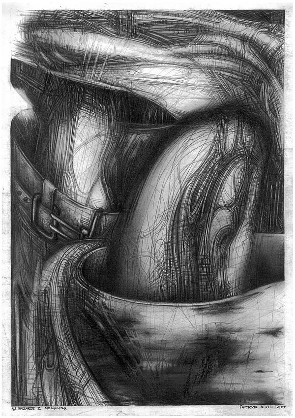 AxisCylinders2 DUT Amazing Pencil Drawings by Patryk Kuleta