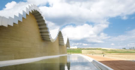 BodegasYsios7 Pixel like Winery Building Designed by Santiago Calatrava