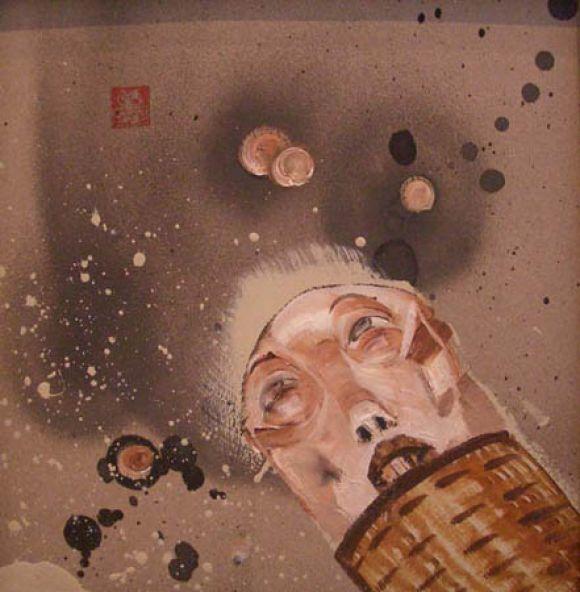 DC16 David Choe: Oil on Cardboard
