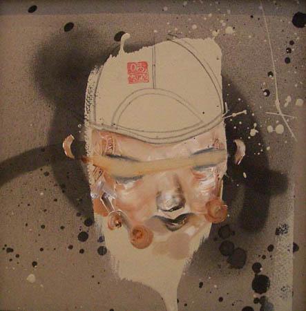 DC18 David Choe: Oil on Cardboard