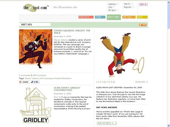 IspotscreengrabDYT TheIspot Art News blog redesign goes live