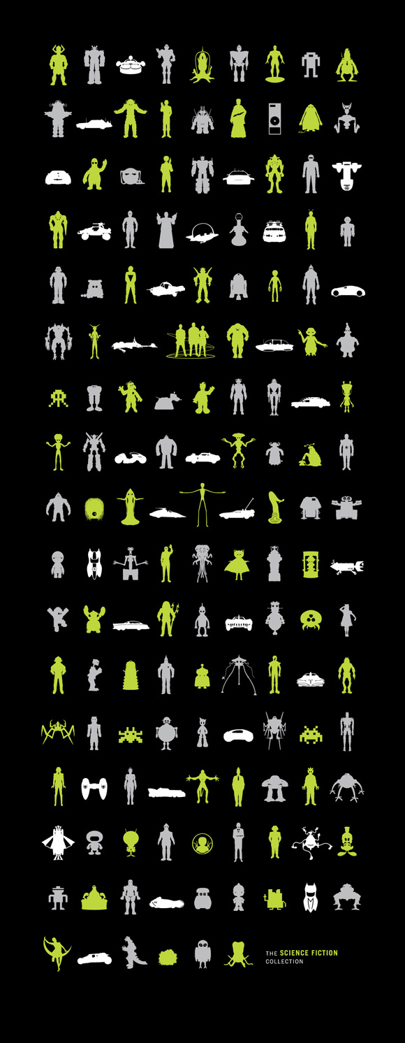 ScienceFiction hires 149 Sci Fi Icons on One Poster