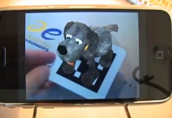 augmentedRealityiPhoneDYT02 Augmented Reality Virtual Pet on the iPhone