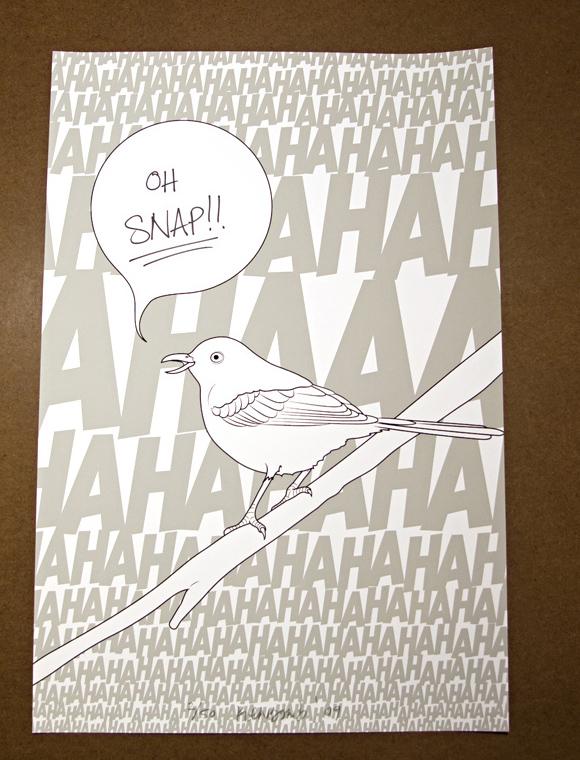 bird3 Mockingbirds (3 print set)