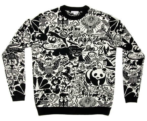 designfetishanimallogossweater2 Animal Based Logo Marks Sweater