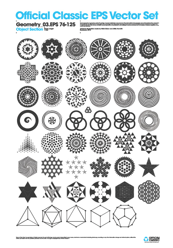 flickr behance geometry 03 object 1 year. 2 designers. 38 sets. 1000 EPS vectors by Official Classic